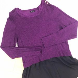 💰Purple and black  winter top size PL